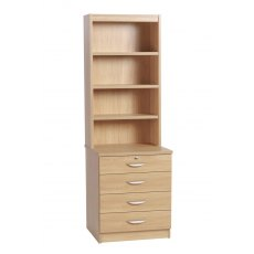 Compton Four Drawer Chest with OSD Hutch