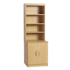 Compton Desk Height Cupboard 600mm Wide with OSB Hutch