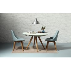 Glamour (S) Dining Chair (with wooden legs)