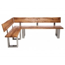 Piana Corner Bench with Back (with U-shape metal legs 4x10cm)