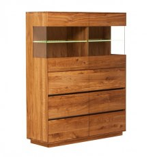 Piana Oak Double Display Unit