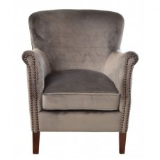 Petite Club Chair (in aluminium velvet)