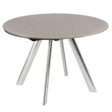 Myles Extending Round Dining Table (with metal legs)