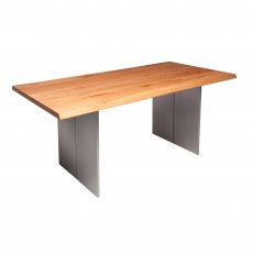 Piana Oak Dining Table (with full metal legs)