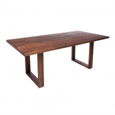 Piana Walnut Dining Table (with U-shape wooden legs 4x10cm)