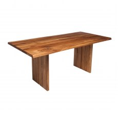 Piana Oak Dining Table (with full wooden legs)