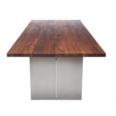 Piana Walnut Dining Table (with full metal legs)