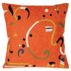 "Orange Ribbon 18"" Cushion"
