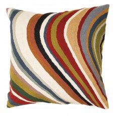 "Multi Coloured Curve 18"" Cushion"