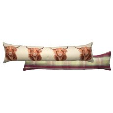 Highland Cow Draught Excluder Cushion