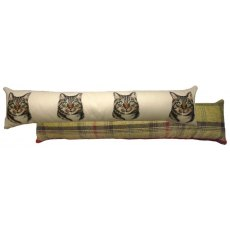 Tabby Cat Draught Excluder Cushion