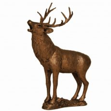Stag Roaring Sculpture