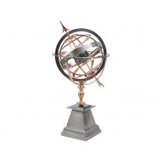 Satin Grey and Copper Armillary
