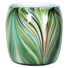 Waves of Green Round Vase