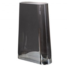 Large Smoked Tapered Glass Vase