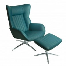Felka Swivel Chair & Footstool