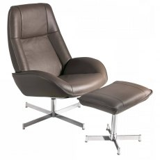 Rozalia Swivel Chair & Footstool