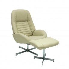 Grayna Swivel Chair & Footstool
