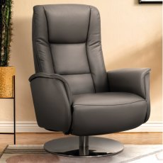 Minerva 8004 Swivel Recliner Chair with Leg Rest