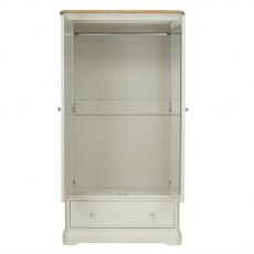 Cromwell 2 Door Wardrobe with 1 Drawer