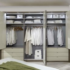 Loft Bi-Folding Wardrobes with Drawers