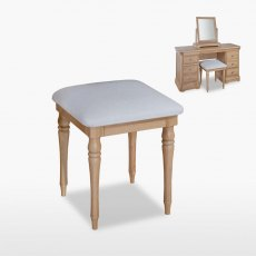 Lamont Bedroom Stool (in leather)