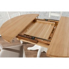 Coelo Round Extending Single Pedestal Dining Table