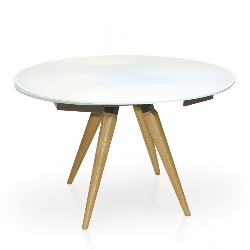 Myles Extending Round Dining Table, Round Extending Dining Tables
