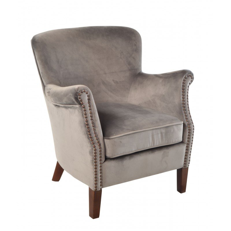 Ancient Mariner Petite Club Chair (in aluminium velvet)