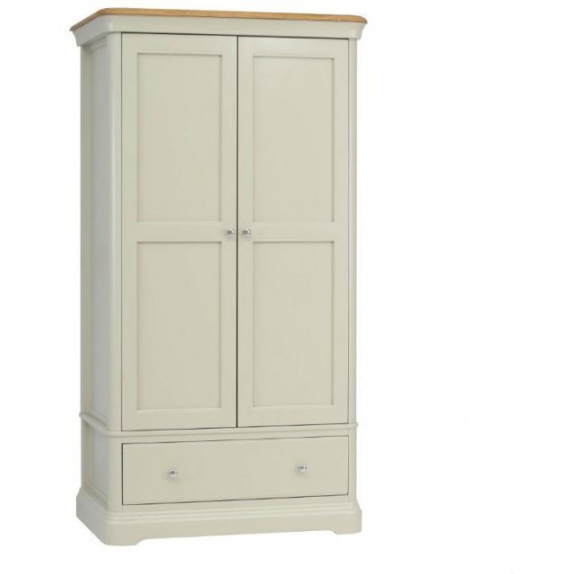 TCH Furniture Cromwell 2 Door Wardrobe with 1 Drawer